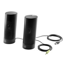 HP USB Business speakers v2 - Haut-parleurs - pour PC - 4 Watt (Totale) - noir - pour EliteDesk 705 G1, 800 G2; ProDesk 400 G2.5, 400 G3, 40X G1, 40X G2, 490 G3, 600 G1 (photo)
