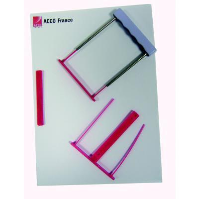 Relieurs de documents A4 Capiclass rouge - lot de 50 - paquet 50 unités