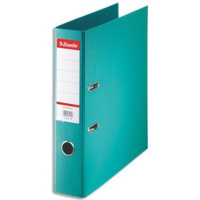 Classeur à levier Esselte - dos de 7,5 cm - plastifié intérieur et extérieur - turquoise