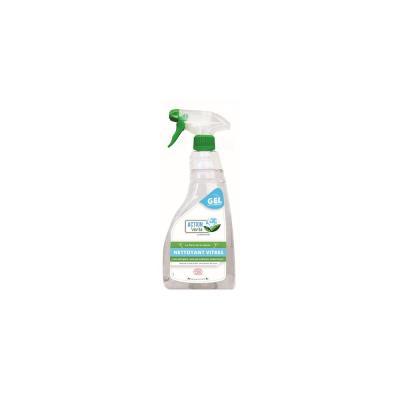 Nettoyant écologique vitres et surfaces en gel - vaporisateur de 750ml - bouteille 750 millilitres (photo)