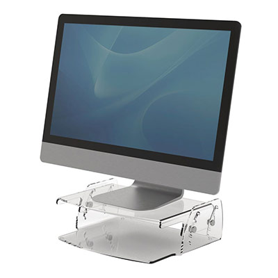 Support pour écran Fellowes Clarity - réglable en hauteur - en acrylique transparent