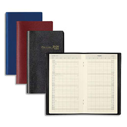 Agenda 2020 Planning Brepols PLANORAMA - décembre à décembre - format 9 x 16 cm - agrafé - noir (photo)
