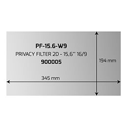 PORT Professional - Filtre anti-indiscrétion - largeur 15,6 pouces