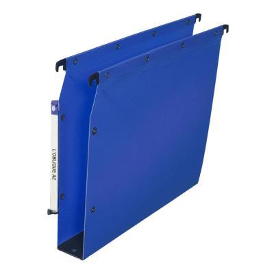 Dossiers suspendus OAZ polypro Ultimate fond 50 bleu pour armoire