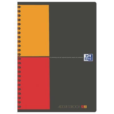 Répertoire Oxford Office à reliure intégrale AdressBook - 160 pages - 14,8 x 21 cm - papier 80g - blanc - reliure spécifique Bicolore.