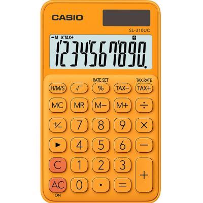 Calculatrice de poche Casio - 10 chiffres - orange