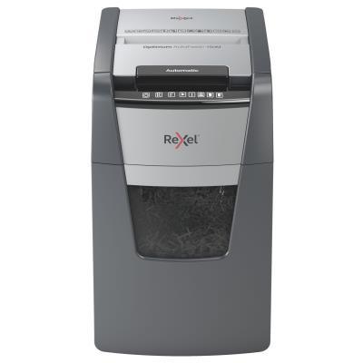 Destructeur de documents Rexel Optimum Auto+ 150M - coupe micro DIN P5 - 150 feuilles - corbeille 44 litres