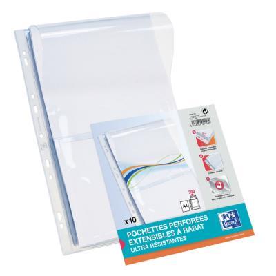 Pochettes perforées pour plans Elba - PVC 9/100e - soufflet 2 cm - A4 - lot de 10