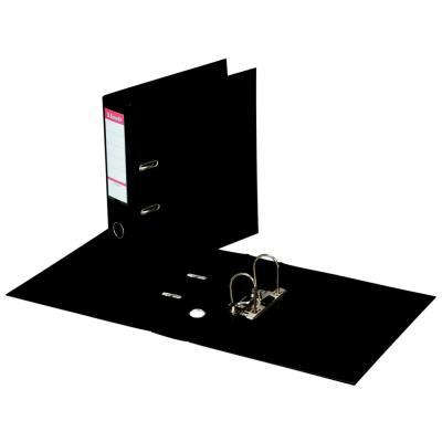 Classeur à levier Esselte - dos de 7,5 cm - plastifié intérieur et extérieur - noir