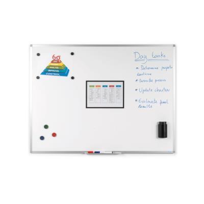 Tableaux blancs - surface magnétique en émail et effaçable à sec - 90 x 60 cm