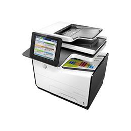 HP PageWide Enterprise Color MFP 586dn - Imprimante multifonctions - couleur - large éventail de page - A4 (210 x 297 mm), Legal (216 x 356 mm) (original) - A4/Legal (support) - jusqu'à 50 ppm (copie) - jusqu'à 50 ppm (impression) - 550 feuilles - USB 2.0, Gigabit LAN, hôte USB 2.0