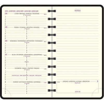Agenda de poche Exacompta Eurotime Swan 16 W - 9 x 16 cm - orange- 2019 (photo)