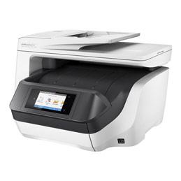 HP Officejet Pro 8730 All-in-One - Imprimante multifonctions - couleur - jet d'encre - Legal (216 x 356 mm) (original) - A4/Legal (support) - jusqu'à 22 ppm (copie) - jusqu'à 24 ppm (impression) - 250 feuilles - USB 2.0, LAN, Wi-Fi(n), hôte USB, NFC - HP Instant Ink éligible