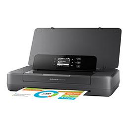 HP Officejet 200 Mobile Printer - Imprimante - couleur - jet d'encre - A4/Legal - 1200 x 1200 ppp - jusqu'à 20 ppm (mono) / jusqu'à 19 ppm (couleur) - capacité : 50 feuilles - USB 2.0, hôte USB, Wi-Fi