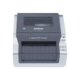 Brother QL-1060N - Imprimante d'étiquettes - papier thermique - Rouleau (10,2 cm) - 300 ppp - jusqu'à 110 mm/sec - USB, LAN, série (photo)