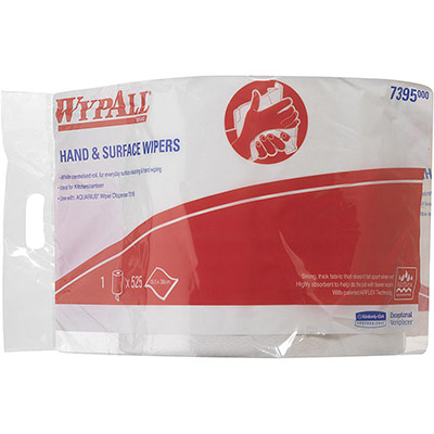 Rouleau distributeur de serviettes en papier L10 - simple épaisseur - dévidage central - 525 feuilles - 185 mm - blanc - carton 6 x 525 feuilles