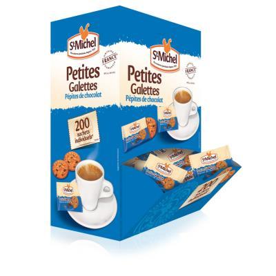 Mini galettes aux pépites de chocolat St Michel - boîte de 200 sachets individuels