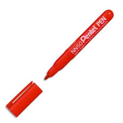 Marqueur permanent Pentel NN50 - pointe ogive - corps plastique - encre rouge formule écologique