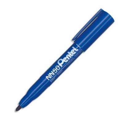 Marqueur permanent Pentel NN50 - pointe ogive - corps plastique - encre bleue formule écologique