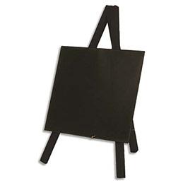 Mini Tripod ardoise de table Securit - dim : L24 x H15 cm  - coloris bois finition noir laqué (photo)
