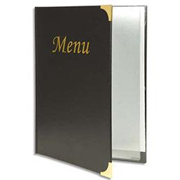 prot ge menus basic securit 4 inserts fixes pour 8 pages format a4 noir achat pas cher. Black Bedroom Furniture Sets. Home Design Ideas