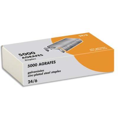 Agrafes 24/6 - galvanisées - boîte de 5000