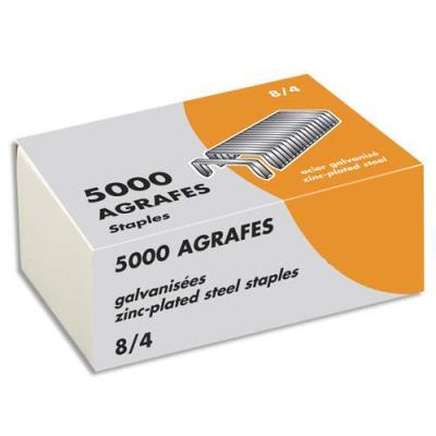 Agrafes 8/4 - galvanisées - boîte de 5000