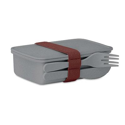 Boîte à repas Lunch box - coloris gris (photo)