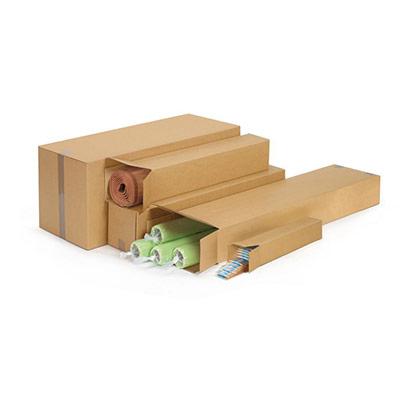 Caisse longue en carton brun Raja - L.50 x l.10 x H.10 cm