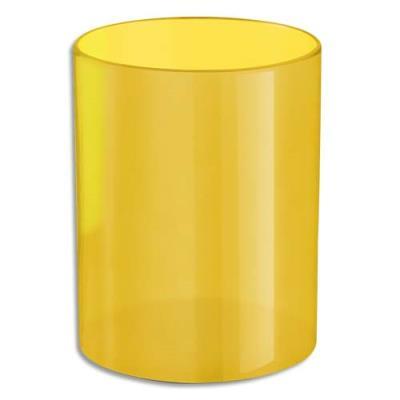 Pot à crayons jaune