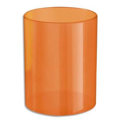 Pot à crayons orange