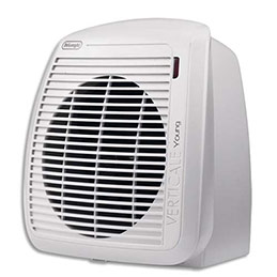 Radiateur soufflant Delonghi - 2000W - thermostat ajustable - L23,8 x H25,4 x P17,7 cm - blanc (photo)