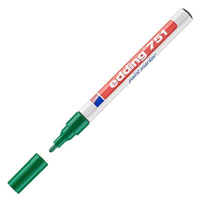 Marqueur à peinture 751 à pointe ogive 1 - 2 mm vert (photo)