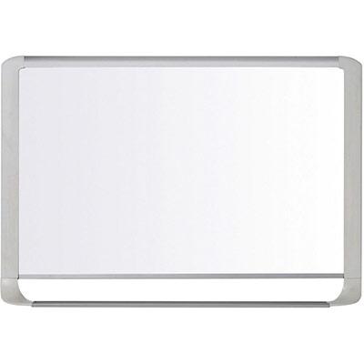 Tableau blanc magnétique MasterVision - 600 x 900 mm - acier laqué - surface brillante blanche - cadre gris clair