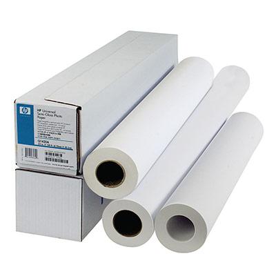Rouleau de papier extra-blanc HP C6035A pour traceur jet d'encre - format 0,610 x 45,7m - 90g - rouleau 45,7 mètres (photo)