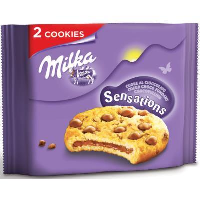 Cookies sensations au cœur chocolat - sachet de 2 biscuits - carton 24 x 52 grammes
