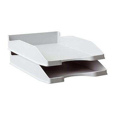 Bac à courrier - A4 - polystyrène - gris opaque