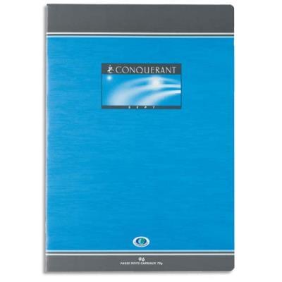 Cahier de devoirs Conquerant - 17 x 22 cm - Seyes - 96 pages
