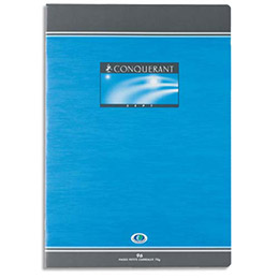 Cahier de devoirs Conquérant 7 - 96 pages - 17 x 22 cm - petits carreaux - 70 g