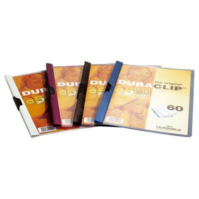 Chemise de présentation à clip Duraclip 60 - capacité 60 feuilles - coloris assortis.