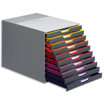 Module de classement Varicolor - 10 tiroirs multicolore - 29,2 x 28 x 35,6 cm