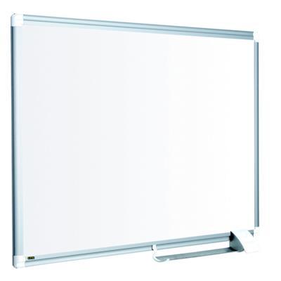 Tableau blanc Bi-Office Maya New Generation - surface en acier laqué - magnétique - cadre en aluminium gris - 1800 x 900 mm