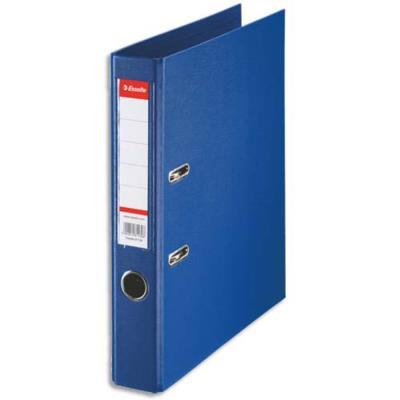 Classeur à levier Esselte - dos de 5 cm - plastifié intérieur et extérieur - bleu