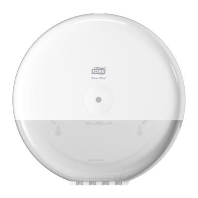 Distributeur papier toilette en rouleau SmartOne blanc en ABS - D27,9cm H16,7cm