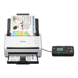 Epson WorkForce DS-530N - Scanner de documents - Recto-verso - A4 - 600 dpi x 600 dpi - jusqu'à 35 ppm (mono) / jusqu'à 35 ppm (couleur) - Chargeur automatique de documents (50 feuilles) - jusqu'à 4000 pages par jour - USB 3.0, Gigabit LAN (photo)