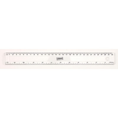 Règle 30 cm - 2 pouces - transparente (photo)