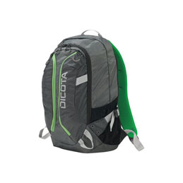 Dicota Active - Sac à dos pour ordinateur portable - 15.6'' - gris, citron vert (photo)