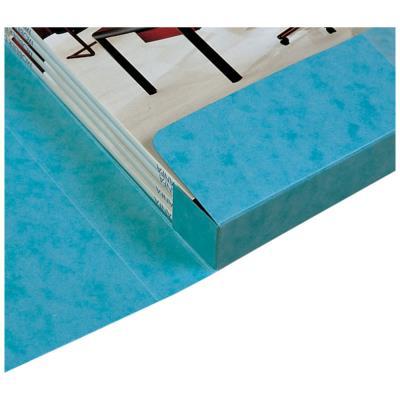 Boite de classement 3 rabats et élastique Cartobox - dos 6 cm - carte lustrée 7/10e - jaune
