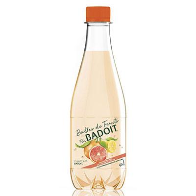 Bulles de fruits Eau minérale gazeuse pamplemousse et touche de citron - bouteille 40 cl - paquet 12 x 400 millilitres (photo)