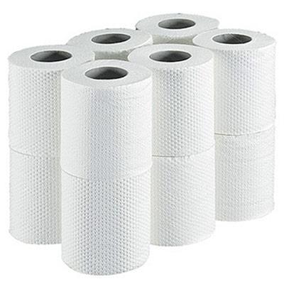 Papier toilette en rouleaux standard - double épaisseur - gaufré - 180 feuilles - 113 mm - blanc - carton de 96 rouleaux (photo)